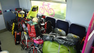 Bike space on a FGW train.
