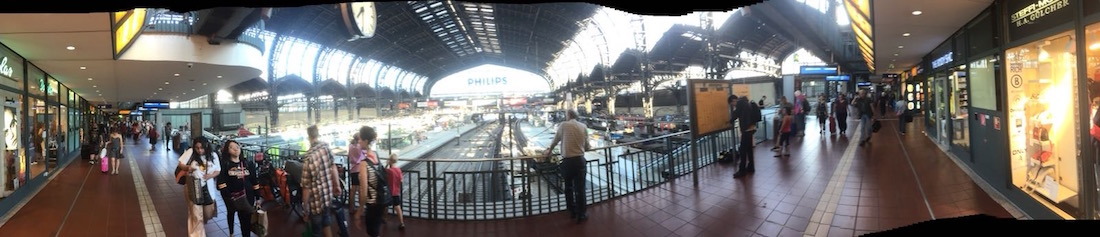 A panorama of Hamburg HBF