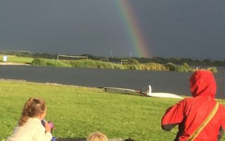 Rainbow at Lauwersoog, NL. There's some hope for a better environment in the future if we make family life more eco.