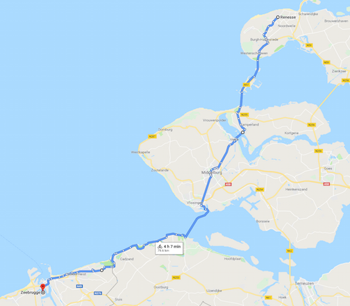 Our first two day's cycling on our Netherlands family cycling holiday.