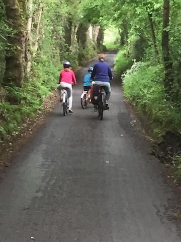 Family cycling in the Forest of Bowland