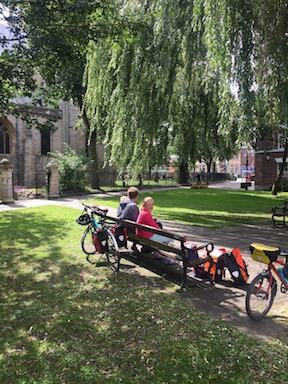 Picnic at Selby Abbey on the Trans Pennine Trail