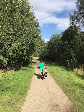 Flat, well-surfaced traffic-free route on the Trans Pennine Trail
