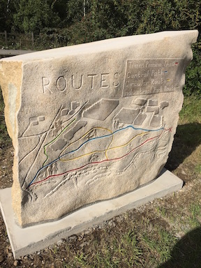 Trans Pennine Trail stone route map