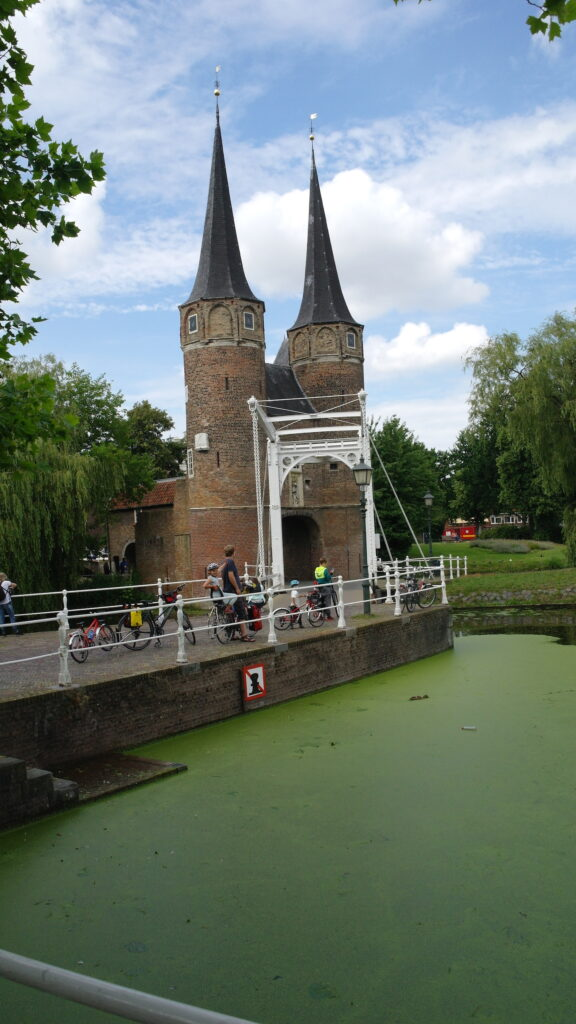 Delft canal and towers